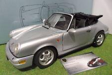 PORSCHE 911 CARRERA 4 cabriolet gris 1/14 no 1/18 ANSON 30306 miniature