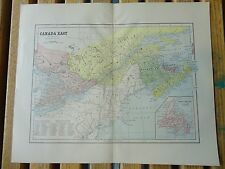 Nice colored map of Canada East.  Pub. in 1895 in The People's Cyclopedia.