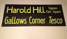 "London Bus Blind (42"") Dec01- Harold Hill Dagnam Park Sq / Gallows Corner Tesco"