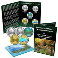 2011 Chickasaw National Park Quarter Collection Colorized Gold Plated Hologram