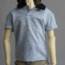 [PF] 528# Gray Striped Lapel Vest / T-shirt 1/4 MSD DOD AOD DZ LUTS BJD Dollfie