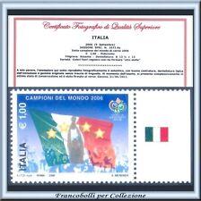 Italia Campioni Mondo 2006 Varietà 8 stelle Certific. Campionato Mondiale Calcio
