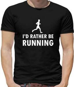I'D Rather Be Course T-Shirt - Courir - Runner - Marathon - Course - Athlétique