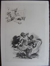 Alméry LOBEL-RICHE (1880-1950) : EROTIQUE. Pointe seche, CURIOSA