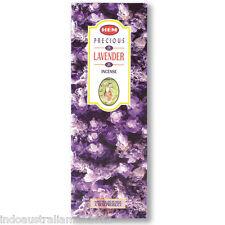 """12 Sq. Boxes of """"Precious Lavender """" Incense Sticks 'Hem' Brand- 96 Sticks Bulk"""