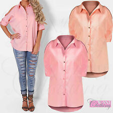 Unbranded Collared Hip Length Casual Tops & Shirts for Women