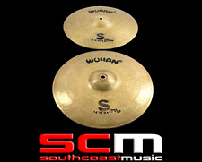 "RRP$349.95 Wuhan S Series 14"" Hi Hats WUSHH14 Cymbals Percussion hand hammered"