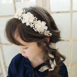 Girls Floral & Lace Hairband