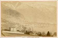 Suisse, Montreux, Clarens-Vernex, Vue sur les Alpes  Vintage albumin print