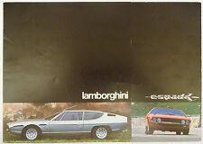 1976 Lamborghini Espada Series 3 400GT Original Sales Brochure Bertone S3 SIII