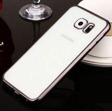 Funda case silicona borde color metalizado para Iphone 4 / 4S