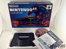 Boxed Nintendo 64 Japanese Import System N64 CIB Console Black Japan US Seller A
