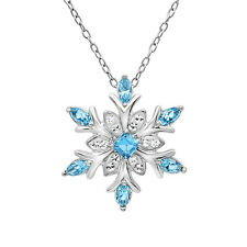 Snowflake Pendant made Swarovski Crystals in .925 Sterling Silver