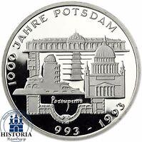 BRD 10 DM 1000 Jahre Potsdam 1993 Silber Spiegelglanz Münze in Münzkapsel