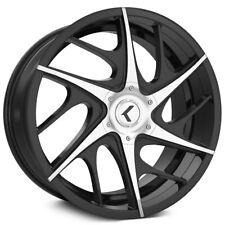 "Kraze KR182 Rogue 18x8 5x110/5x115 +40mm Black/Machined Wheel Rim 18"" Inch"