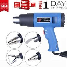 1500W Heat Gun Hot Air Wind Blower Dual Temperature + 4 Nozzles Power Heater110V
