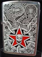 ZIPPO LIGHTER BARRETT SMYTHE SKULL INDUSTRIA MOTORCYCLE ENGINE 2004 SEALED NEW