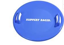 Slippery Racer Downhill Pro Saucer Sledding Disc BLUE saucer sled