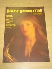 JAZZ JOURNAL INTERNATIONAL VOL 33 #3 1980 MARCH BARBARA THOMPSON BRITT WOODMAN