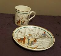 Vintage French Opera Demitasse Cup and Saucer Set Made in England for PV
