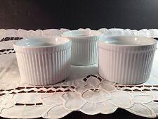 Ramekin Set Lot 3 White Porcelain 8 oz Dessert Oven Safe Ramekins Dishes