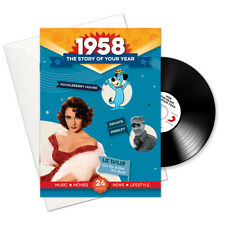 1958 59th Birthday or Anniversary Gift -1958 4-In-1 CD Card - Story of Your Year