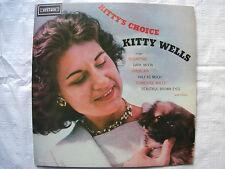 Kitty's Choice Kitty Wells LP Album Record Sugartime, Dark Moon, Jambalaya...