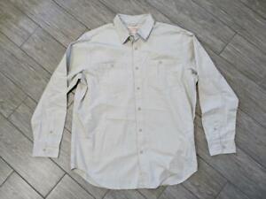 FILSON cotton shirt XL khaki LONG SLEEVE safari