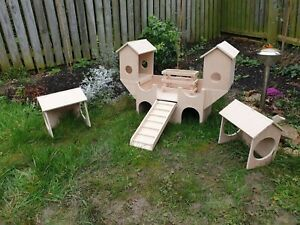 UPGRADES for castle guinea pigs house furniture exercise toy hop up tower feeder