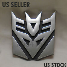 3D Chrome Decepticon 4 Inch Transformers Emblem Badge Decal Car Stickers Truck