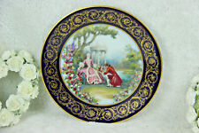 French Limoges porcelain victorian romantic scene plate marked