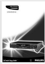 Phillips CDR 950 951 Audio CD Player Recorder Operating Instruction USER MANUAL