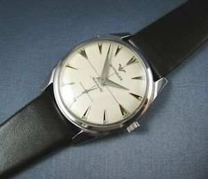 Vintage Longines Wittnauer  Stainless Steel Automatic Mens Watch 17J 11AN 1950s