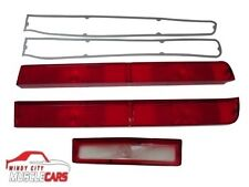 1970 AMC AMX / Javelin Back Up Reverse & Tail Light Lenses with Gaskets Set