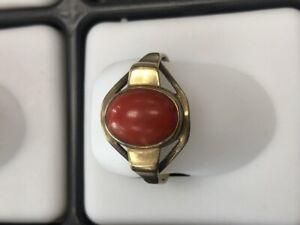Anillo Rojo Coral 333 Oro, 1,92 G, 58 Tamaño