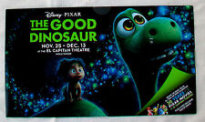 EL CAPITAN THEATRE Flyer Invitation Program Brochure THE GOOD DINOSAUR Pixar