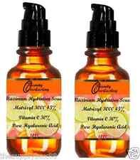 2 Bottles of 1.2 oz Pure Hyaluronic acid, 30% Vitamin C, 45% Matrixyl 3000