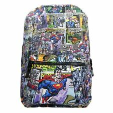 DC Superman Retro Comic Print Laptop Backpack School Bag - Uni Justice League