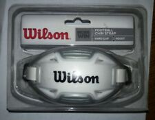 Wilson Chin Strap Hard Cup Adult Football New White