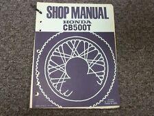 1975 1976 Honda Model CB500T Motorcycle Shop Service Repair Manual
