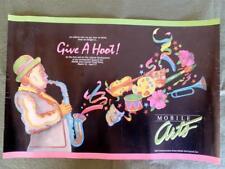 Vintage 1984 Commemorative Poster / Mobile Arts Council. Inc - Mobile, Alabama