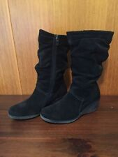 Wedge Ankle Solid Zip Women's Boots