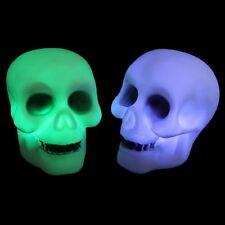 LED Schädel Nachtlicht Totenköpfen Knochen Skull Skelett Lamp Halloween Bunt