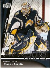 JHONAS ENROTH BUFFALO SABRES 2009-10 UPPER DECK YOUNG GUNS ROOKIE #239