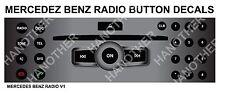 Mercedes Benz Matte Black Radio Stereo Button Repair Decals Stickers Repair