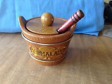 Lipper and Mann Creations Barrel Style Marmalade Serving  W/spoon Japan