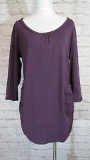A Pea In The Pod Maternity Shirt SZ L Purple Ruched Sides Stretchy Top  #7305