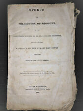 Speech of Mr Benton; Missouri, Public Deposits, Mr. Clay, President Jackson 1834