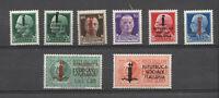 REPUBBLICA SOCIALE 1944 SERIE IMPERIALE CON varietà SOPRASTAMPA + 2 ESPRESSO MLH