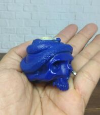 Skull Head Without Jaw and Snake from Billiard Ball Hand Carving_z386